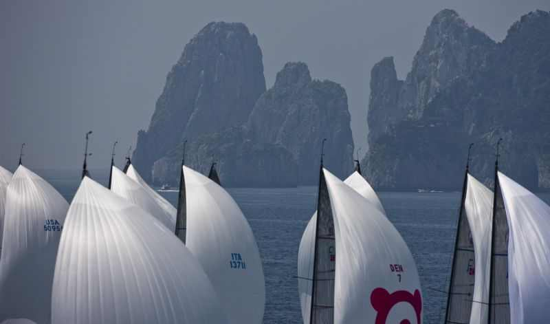 Farr 40 Fleet During Capri Sailing Week 2009 (Photo by Rolex / Carlo Borlenghi)