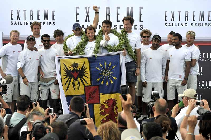 Groupe Edmond de Rothschild, Winner of the Extreme Sailing Series Sete, France