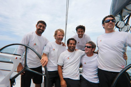 Majan Crew Start Out On Leg 5 (Photo Courtesy of Oman Sail)