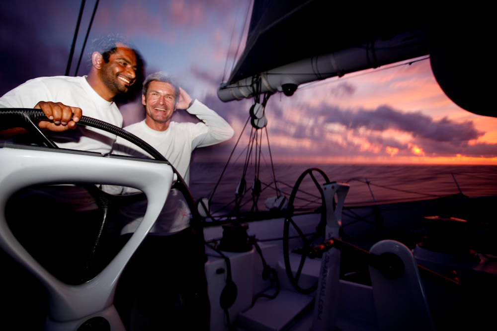 Mohammed and Sidney Helming Majan (Photo by Mark Covell / Oman Sail)
