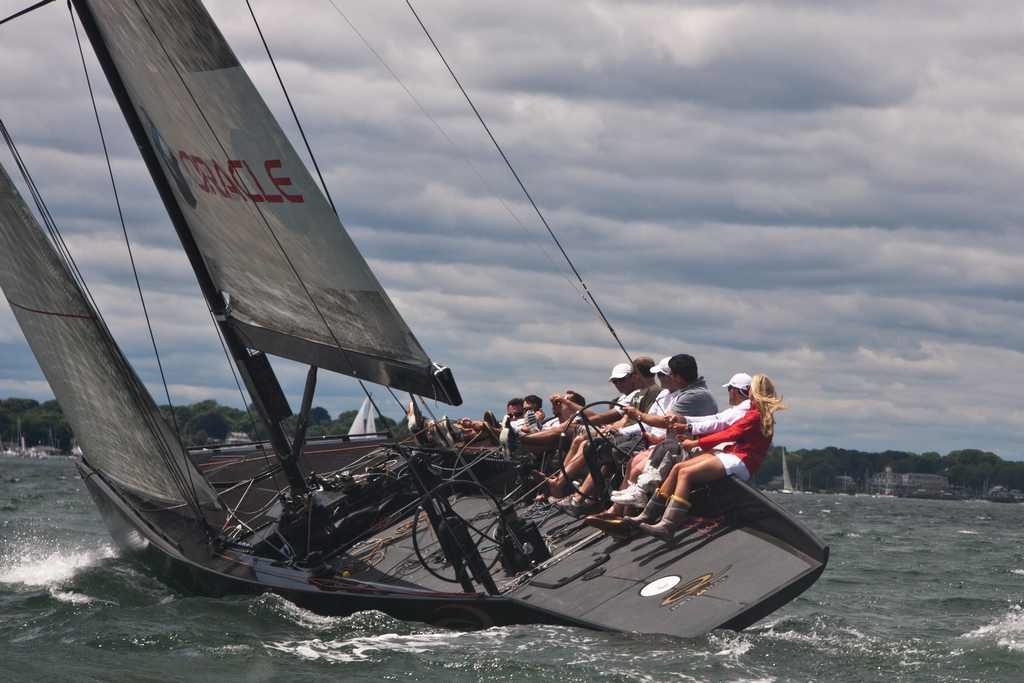 Upwind On The RC44 (Photo by George Bekris)