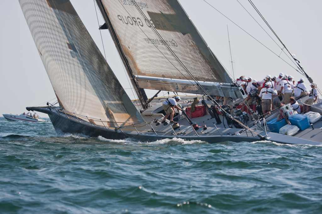 Genuine Risk At Start Of Bermuda Race (Photo by George Bekris )