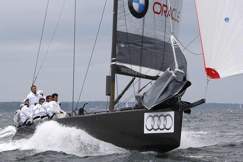 BMW Oracle Surfing A Wave (Photo by Per Heegaard / RC44 Class)