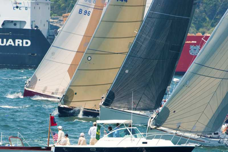 One Of The Classes Starting In Newport Bermuda Race 2008 (Photo by George Bekris)