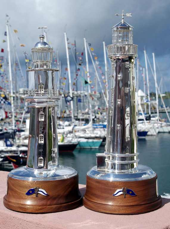 The Gibbs Hill Lighthouse and St David's Lighthouse Trophies (Photo by Barry Pickthall / PPL)