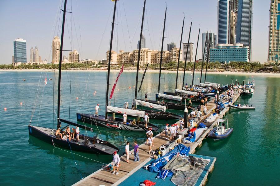 RC 44 Fleet In Dubai (Photo Copyright Nico Martinez / RC 44 Class)
