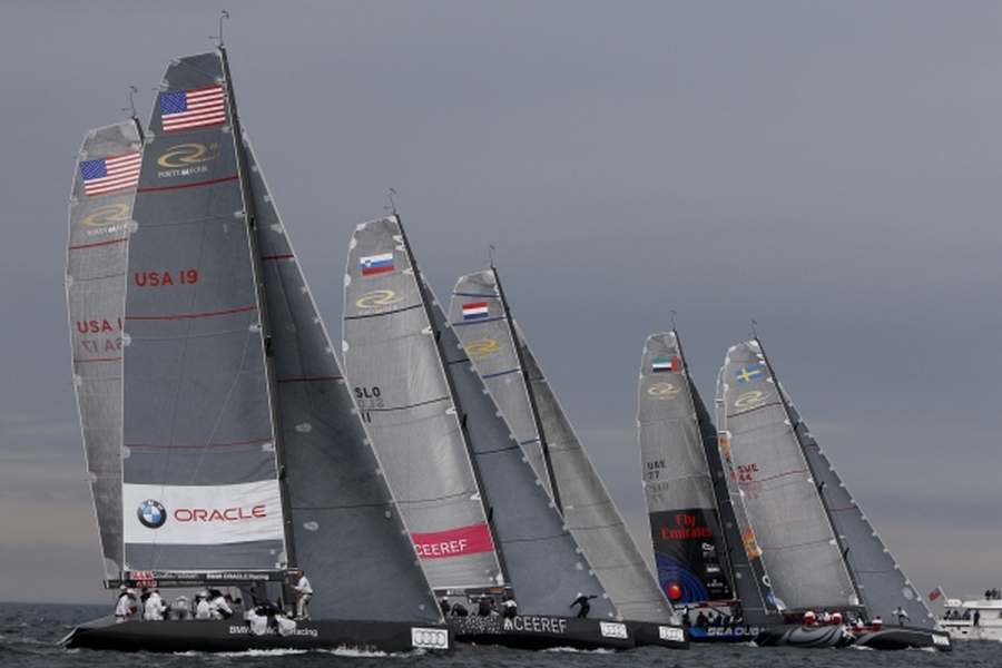 RC44  Valencia Cup Fleet ( Photo by Per Heegaard / RC44 Class Association )