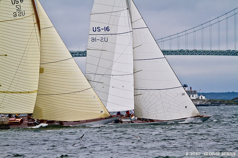 Approaching Newport Harbor In The Candy Store Cup (Photo by George Bekris)