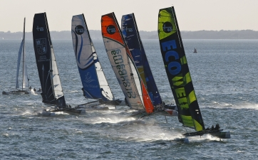 Extreme Sailing Series Fleet ( Photo by Paul Wyeth / OC Events )