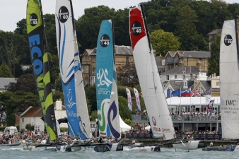 Extreme Sailing Series Fleet  (Photo by Paul Wyeth / OC Events )
