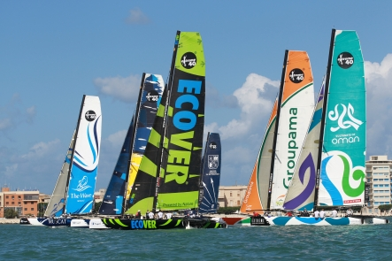 Extreme Sailing Series Fleet (Photo by Roberto Foresti/ Canon/ OC Events )