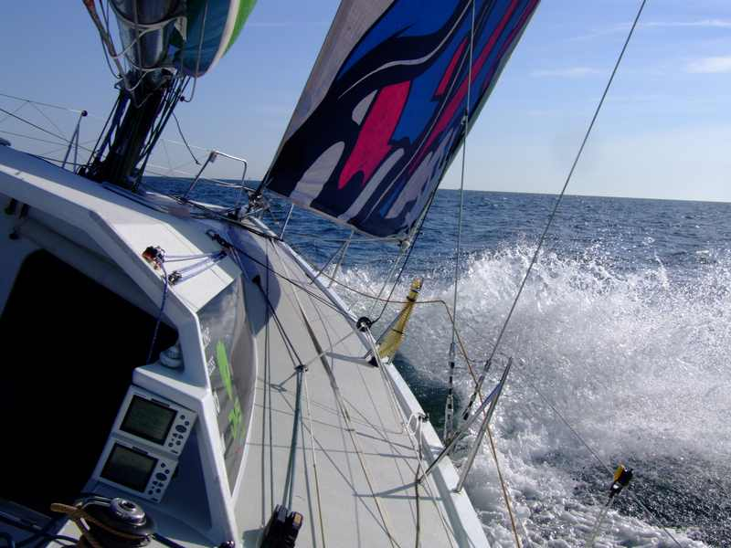 DMS Underway to France for start of the Route du Rhum. (Photo by Colin Merry)