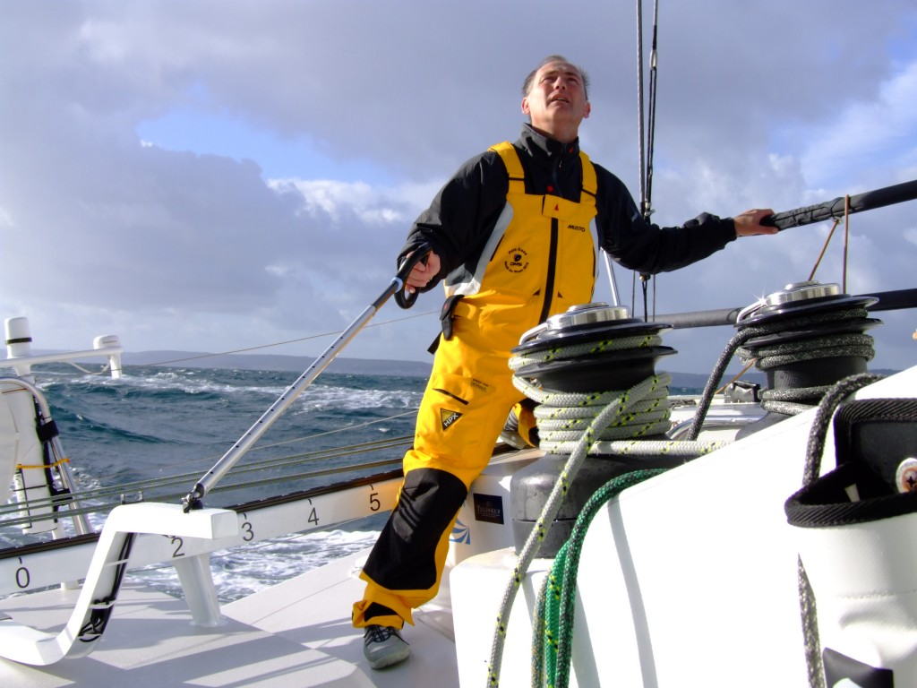 Pete Goss on his new Class 40 Preparing for the Route Du Rhum (Photo by Colin Merry)