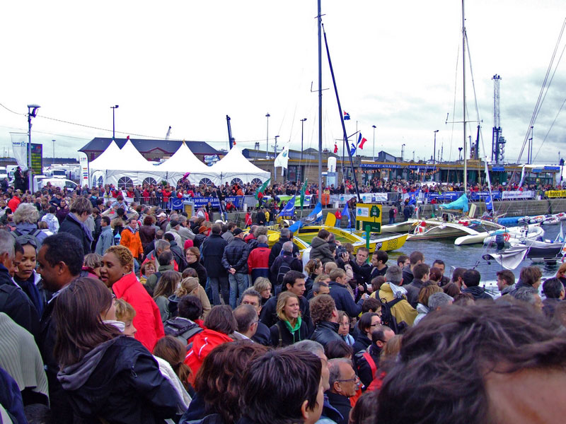 Mega Crowds in St. Malo For The Route du Rhum Skippers (Photo by Colin Merry)