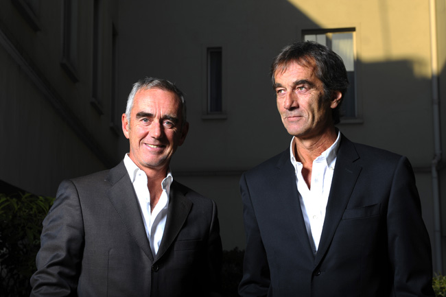 Loick and Bruno Peyron (Photo by Vincent Curutchet / DPPI)