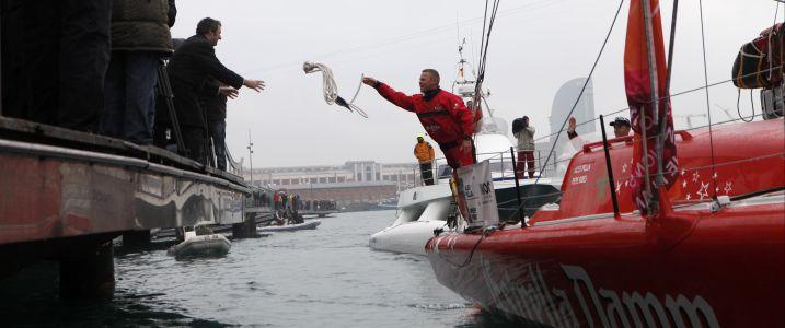 Barcelona World Race Skippers Cast Off (Photo courtesy of Barcelona World Race)