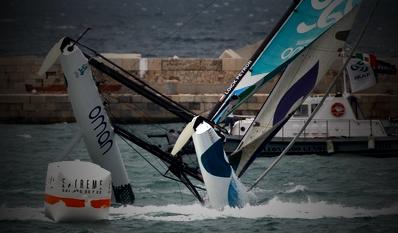 Extreme 40 Muscat Capsizing (Photo courtesy of Extreme Sailing Series)