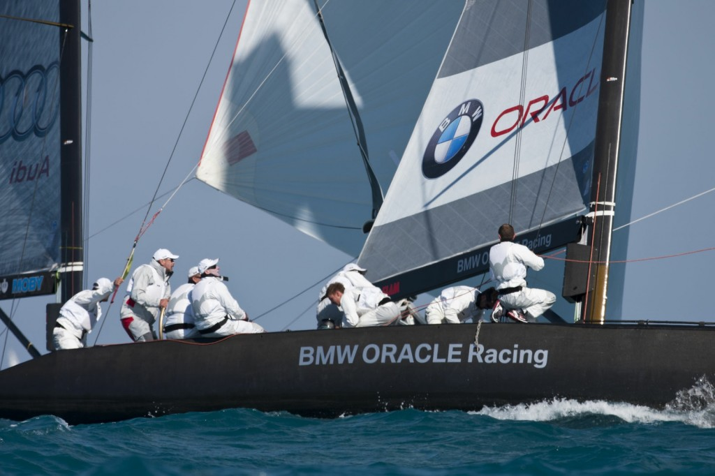 RC 44 BMW Oracle In Miami (Photo by Gilles Martin-Raget / BMW Oracle )