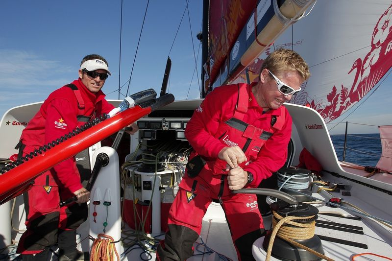 Alex Pella and Pepe Ribes (Photo courtesy of Estrella Damm / Barcelona World Race )
