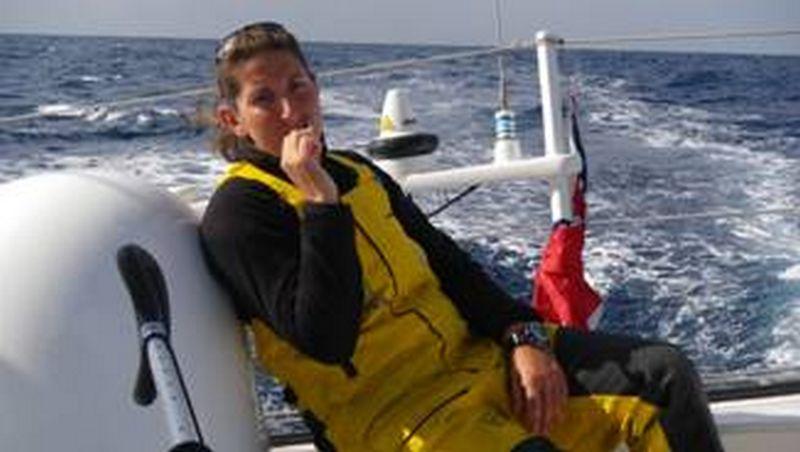 Dee Caffari onboard GAES
