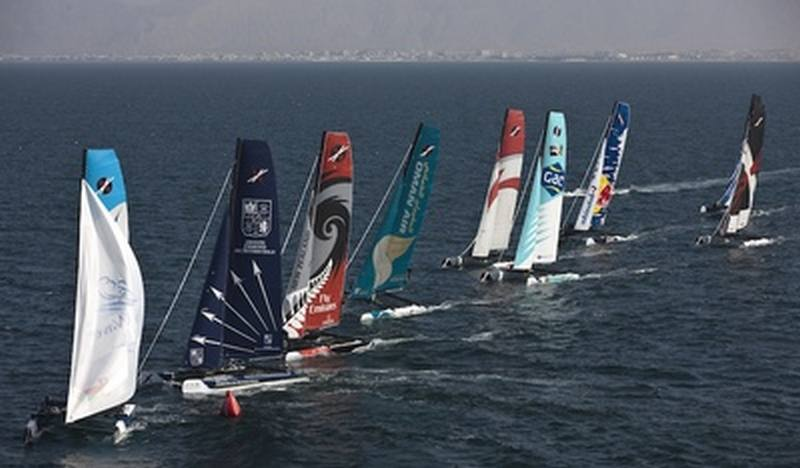 Extreme Sailing Series 2011. Leg 1. Muscat. Oman (Photo by Lloyd Images)