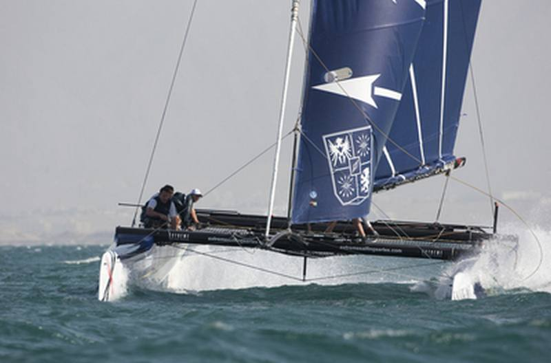 Groupe Edmond de Rothschild racing on day 2 (Photo by Lloyd Images)
