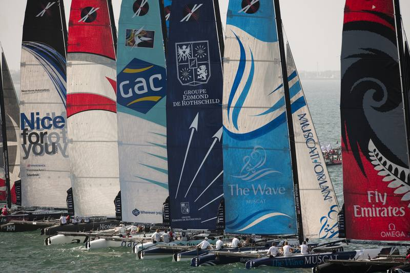 Extreme 40 sailing series first leg at the Wave Muscat Oman.22nd February 2011. (Photo © Lloyd Images)