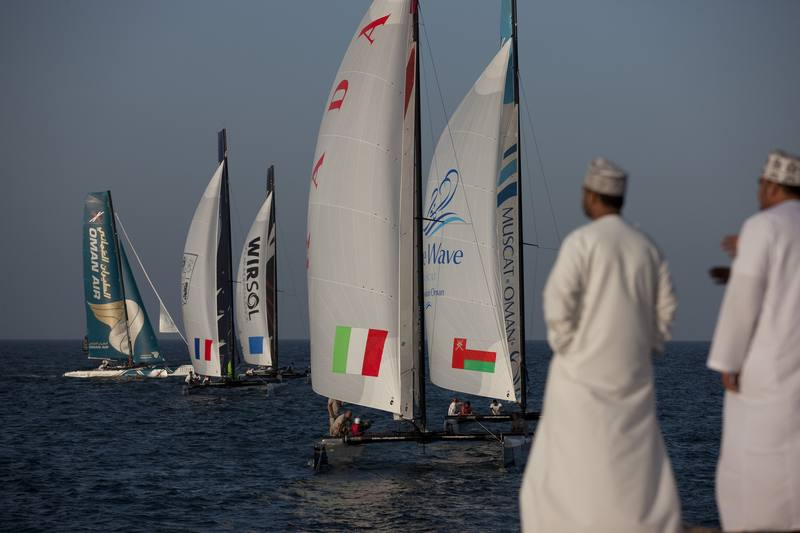 The fleet racing close to the shore (Photo © Lloyd Images )