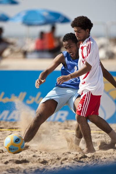 The football tournament in the race village (Photo © Lloyd Images )