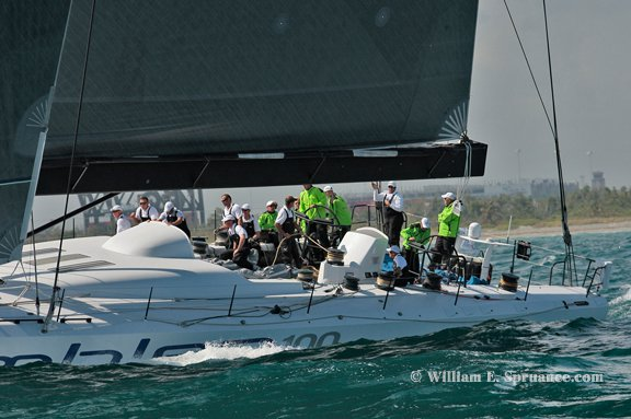 Rambler 100 Takes Line Honors in Pineapple Cup (Photo by William E. Spruance)