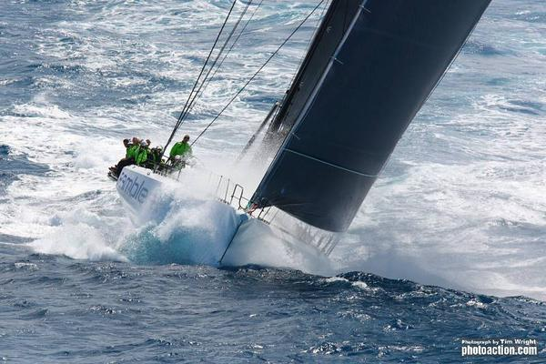 Rambler 100 Reacing in Waves In The RORC Caribbean 600, 2011 (Photo by Tim Wright)