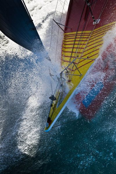 Chris Stanmore-Major onboard his yacht Spartan at the start of Ocean Sprint 3,from Wellington New Zealand to Punta del Este Uruguay. (Photo by Ainhoa Sanchezr/w-w-i.com )