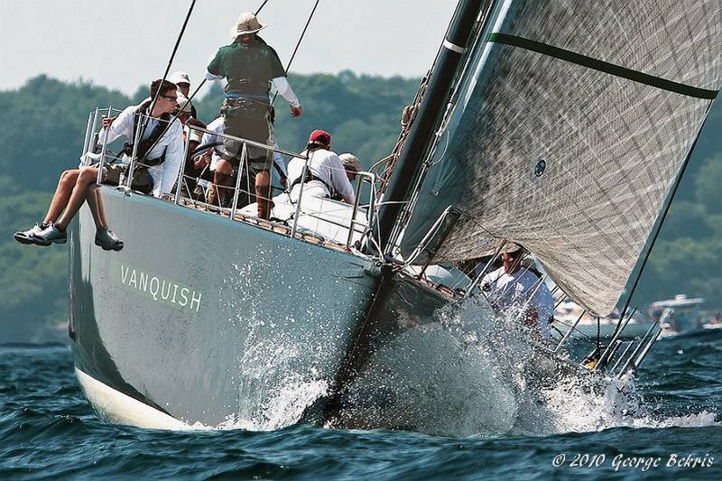 Vanquish at start of Newport to Bermuda Race (Photo by George Bekris)