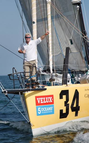VELUX 5 OCEANS skipper Brad Van Liew onboard his yacht Le Pingouin wins the 4th Ocean Sprint from Punta del Este, Uruguay to to Charleston SC, USA.(Photo by  Ainhoa Sanchez/w-w-i.com)