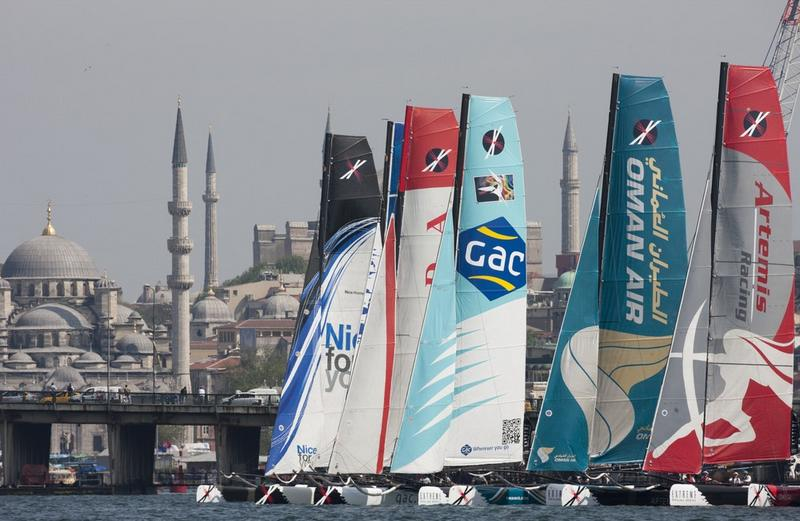 Extreme 40 Fleet In Istanbul, Turkey (Photo by Lloyd Images)