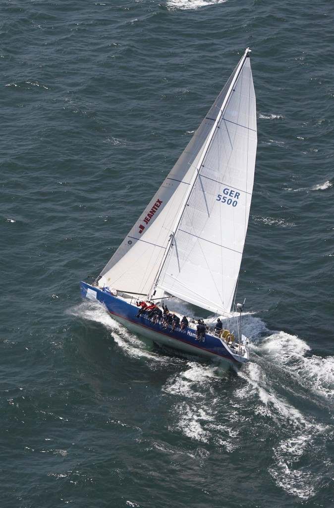 The German Youth Team will be racing on the Andrews 56 Norddeutcshe Vermoegen Hamburg (shown here at the 2007 HSH Nordbank Blue Race) in the Transatlantic Race 2011. (Photo courtesy of Nico Krauss)