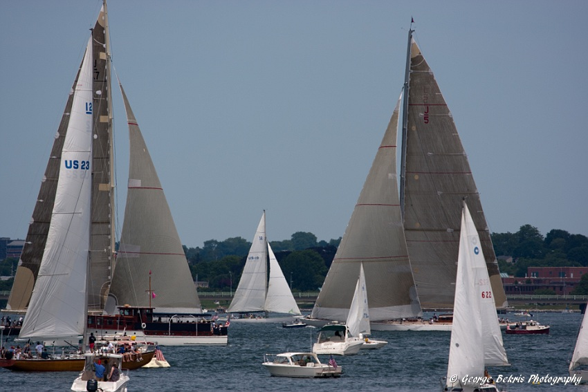 Spectator fleet during last day of J-Class racing (Photo by George Bekris)