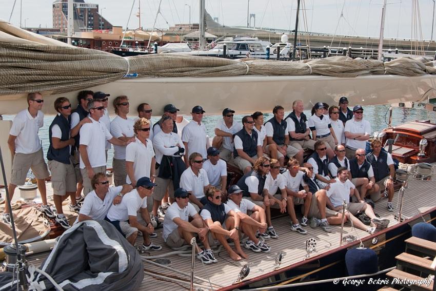 Crew of Velsheda (Photo by George Bekris)