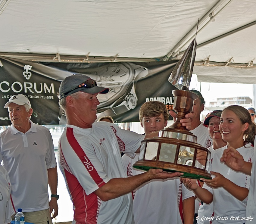 Crew from Ranger admire trophy (Photo by George Bekris)