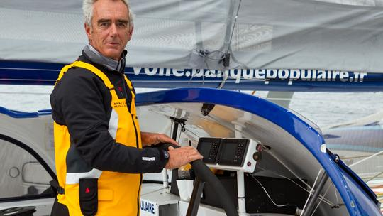 Loïck Peyron - Maxi Trimaran Banque Populaire V (Photo courtesy of BPCE)