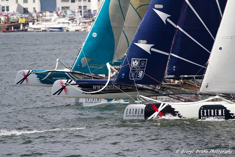 Extreme Sailing Series Boston Fleet (Photo by George Bekris)