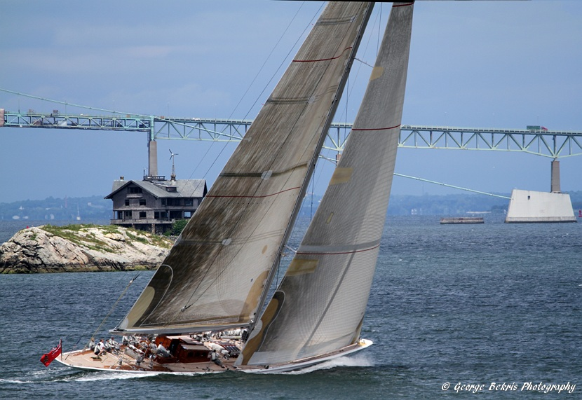 Ranger Taking A Practice Sail In Newport (Photo by George Bekris)