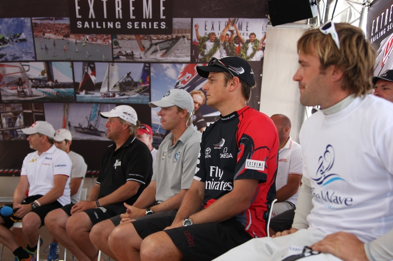 Extreme Sailing Series Skippers (Photo by George Bekris)