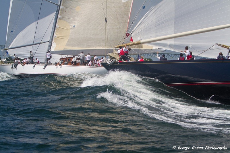 Ranger and Velsheda in the J-Class Regatta (Photo by George Bekris)