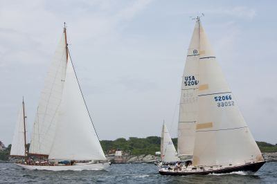 Transatlantic Race Fleet at Start ( Photo by Amory Ross / Transatlantic Race 2011 )