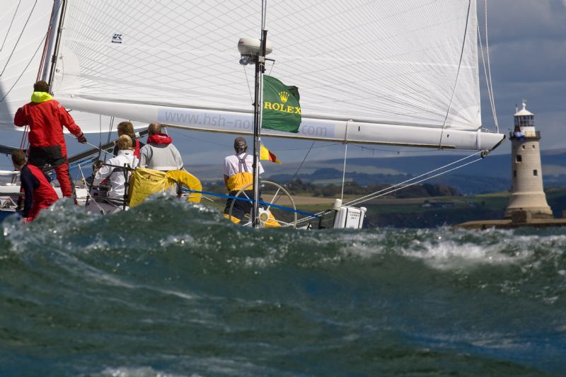 Nordeutsche Vermoe at 2007 Fastnet Finish (Photo by Rolex / Carlo Borlenghi)