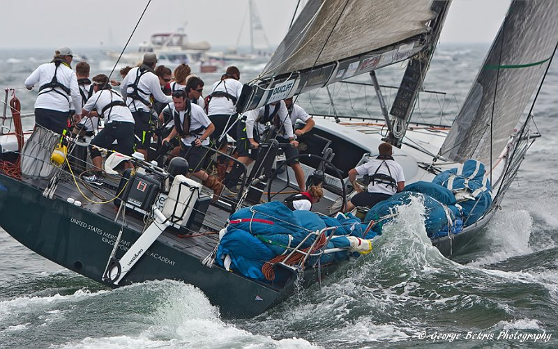 Vanquish at start of Transatlantic Race (Photo by George Bekris )