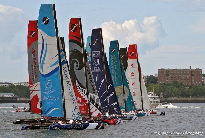 Extreme Sailing Series Fleet (Photo by George Bekris)