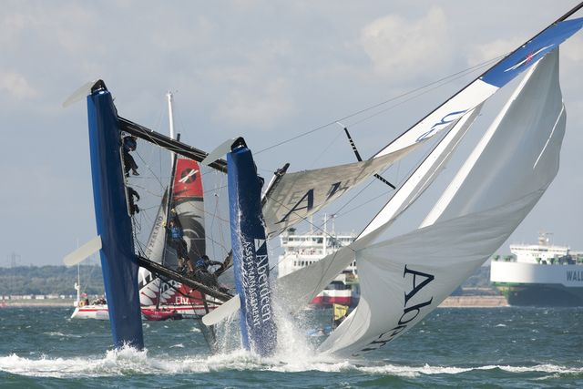 Cowes Week 2011 Aberdeen Asset Management Pitchpoles (Photo by Extreme Sailing Series / Lloyd Images )