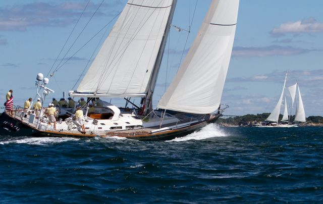 Fearless in the 2010 Newport Bucket Regatta (Photo by Geoge Bekris)